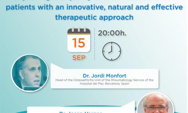 Mejorar la calidad de vida de pacientes con artrosis con un abordaje terapéutico innovador, natural y eficaz